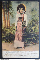 "Japan 1906 - Postkarte ""A Shan Beauty"" Gelaufen ANVERS Belgien - Covers & Documents"