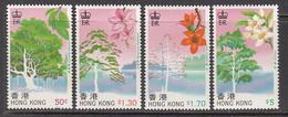 1988 Hong Kong Trees Arbres Complete Set Of 4 MNH - Ungebraucht