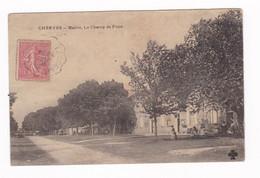 Belle CPA Cherves, Charente, Mairie, Champ De Foire, 1906 - Altri Comuni