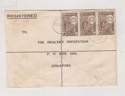 MALAYA NEGRI SEMBILAN  1960  Registered Cover To Singapore - Negri Sembilan