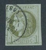 ED-381: FRANCE: Lot Avec N°39A Obl, Signé Brun - 1870 Ausgabe Bordeaux