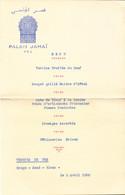 Maroc, Fés, Palais Jamai, 1960  (bon Etat)  Dim : 14 X 9. - Menus