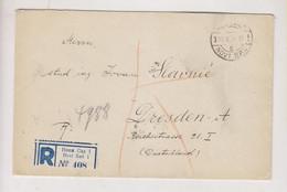 YUGOSLAVIA, NOVI SAD  1924 Nice Registered Cover To Germany - Briefe U. Dokumente
