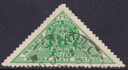 INDIA BHOPAL 1941 SG #O346 1a3p Used Triangular - Bhopal