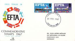 Great Britain   FDC 1967 EFTA (DD33-14) - 1952-1971 Dezimalausgaben (Vorläufer)