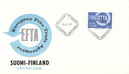 Finland FDC 1967 EFTA (DD33-15) - FDC