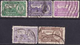 INDIA BHOPAL 1944-47 SG #O347-O349 Compl.set Used Incl. Two Colour Vars For 2a CV £25+ - Bhopal