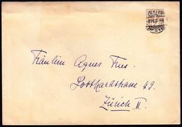 Switzerland Zurich 1912 / Helvetia - Coat Of Arms, Cross & Shield 2 - Lettres & Documents