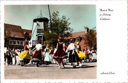 California Solvang Danish Days With Locals In Costume Real Photo - Other