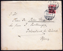 Switzerland Basel 1914 / Helvetia 10 Red 1909 / Sent To Erlenbach - Lettres & Documents