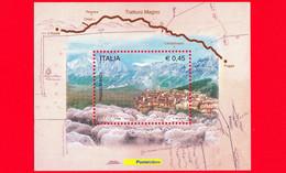Nuovo - MNH - ITALIA - 2004 - Transumanza Attraverso Il Tratturo Magno - Castel Del Monte E Gregge Al Pascolo - 0,45 - Blocks & Kleinbögen