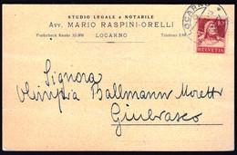 Switzerland Locarno 1921 / 10 C William Tell, Armbrust, Crossbow, 1914 - Lettres & Documents