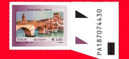 Nuovo - MNH - ITALIA - 2018 - Europa - Ponte Pietra - Verona - 1.00 - Alfanumerico - 2011-...: Ungebraucht