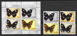TOKELAU 2013 MiNr. 437 - 440 (Block 51) Insects Butterflies 4v+1 MNH** 20,00 € - Tokelau