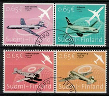 2003 Finland, Airplanes Complete Fine Used Set. - Gebraucht
