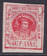 INDIA BHOR 1901 SG #3 ½a Used CV £48 - Bhor