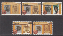1988 Jamaica Cricket Legends Complete Set Of 5 MNH - Jamaica (1962-...)