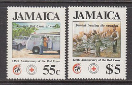 1988 Jamaica Red Cross Ambulance Health Complete Set Of 2 MNH - Jamaica (1962-...)