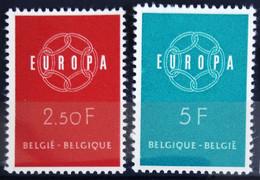 BELGIQUE                    N° 1111/1112      EUROPA                      NEUF** - Ungebraucht