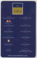 GREECE Hotel Keycard - CLASSICAL HOTELS / WIND ,used - Hotel Keycards