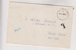 YUGOSLAVIA 1946 ZAGREB Nice T Cover - Briefe U. Dokumente