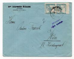 1919. KINGDOM OF SHS,CROATIA,ZAGREB TO VIENNA,AUSTRIA,CHAINBREAKER,MILITARY CENSOR - Briefe U. Dokumente