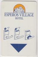 GREECE Hotel Keycard - ESPEROS VILLAGE HOTEL ,used - Hotel Keycards