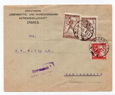 1919. KINGDOM OF SHS,CROATIA,ZAGREB TO GERMANY,CHAINBREAKER,MILITARY CENSOR - Briefe U. Dokumente
