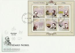Guinea Bissau 2009, Nobel Price 1906, Phisic, Thomson, Chemic, Moissan, Medicine, Carducci, 6val In BF In F - Guinea-Bissau