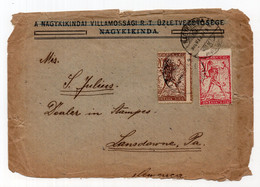 1920. KINGDOM OF SHS,SERBIA,VELIKA KIKINDA TO USA,CHAINBREAKER - Briefe U. Dokumente
