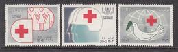 1988 Lebanon Liban Red Crescent Cross Health Complete Set Of 3 MNH - Lebanon
