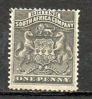 AFRIQUE DU SUD - (Compagnie Britannique) - 1890-91 - N° 1 - 1 P. Noir- (Armoiries) - Other