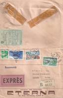 """Express R Brief  """"Eterna, Société De Montres, Paris"""" - Douanes Français Louvre - Grenchen            1962 - Briefe U. Dokumente"""