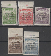 Hungary 1919 Entry Of Horthy-Army In Budapest Set MiNr 286-290 MNH B211015 - Ungebraucht