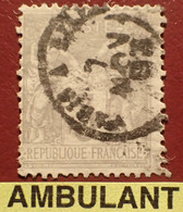 """R1311/1176 - SAGE TYPE II N°87 - Cachet AMBULANT """" PARIS à LILLE """" Du 7 NOVEMBRE 1893 - 1876-1898 Sage (Type II)"""