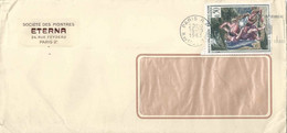 "Motiv Brief  ""Eterna, Société De Montres, Paris""            1963 - Briefe U. Dokumente"