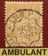 "R1311/1177 - SAGE TYPE II N°92 - Cachet AMBULANT "" MARSEILLE à LYON 3° "" Du 16 JUILLET 1880 - 1876-1898 Sage (Type II)"