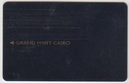 EGYPT Hotel Keycard - Grand Hyatt Cairo (Brown Stripe) ,used - Hotel Keycards