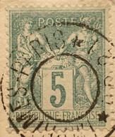R1311/1178 - SAGE TYPE II N°75 (sur Fragment) - CàD Des IMPRIMES PARIS PP21 ➤➤➤ Sans Cachet Dateur Au Centre - 1876-1898 Sage (Type II)
