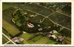 California Loma Linda Aeroplane View Of Loma Linda Saitarium And Grounds Curteich - Other