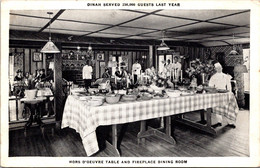 California Palo Alto Dinah's Shack Restaurant Dining Room Hors D'Oeuvre Table And Fireplace 1940 - Other
