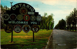California Ontario Welcome Sign 1962 - Other