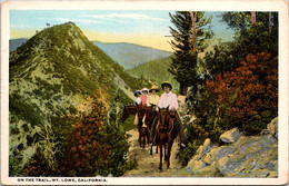 California Mount Lowe Horseback Riders On The Trail Curteich - Other