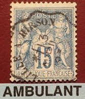 "R1311/1184 - SAGE TYPE II N°101 - Cachet AMBULANT "" LILLE à HIRSON "" Du 13 AVRIL 1893 - 1876-1898 Sage (Type II)"