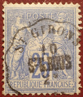 R1311/1185 - SAGE TYPE II N°78 - Cachet CONVOYEUR STATION De ST GIRONS - 1876-1898 Sage (Type II)