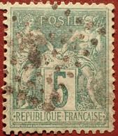R1311/1186 - SAGE TYPE II N°75 - Cachet Du Jour De L'an : ANCRE - 1876-1898 Sage (Type II)