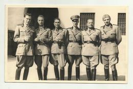 UFFICIALI FUCILIERI 2 GUERRA IN POSA PER FOTO - CARTA LEONAR - NV FP - Guerra 1939-45