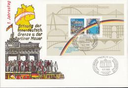 BRD  Block 22, FDC, Öffnung Der Mauer, Deutsche Einheit, 1990 - Briefe U. Dokumente