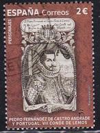 2021-ED. 5529 - Personajes. Pedro Fernández De Castro Andrade Y Portugal, VII Conde De Lemos.- USADO - 2011-... Usati