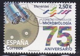 2021-ED. 5528 - 75 Aniversario De La Sociedad Española De Microbiología- USADO - 2011-... Usati